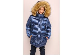 Куртка Морис зима с мех енот (36-40 размер)