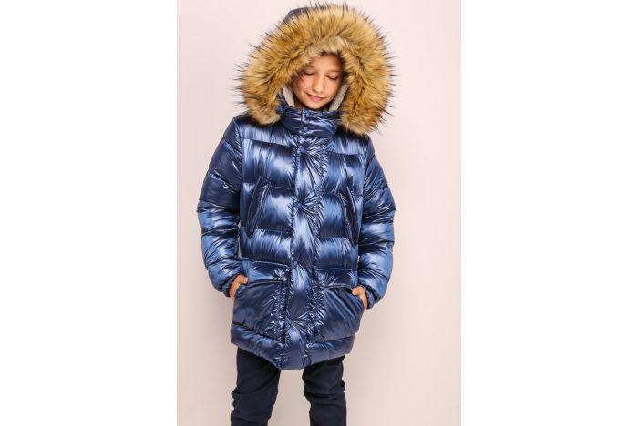 Куртка Морис зима с эко мех енот (36-40 размер)